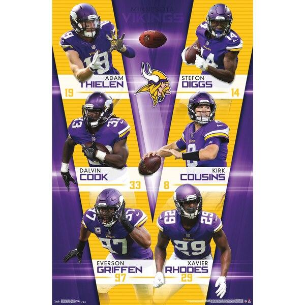 Minnesota Vikings 22'' x 34'' Player Poster cheap Talib jersey men