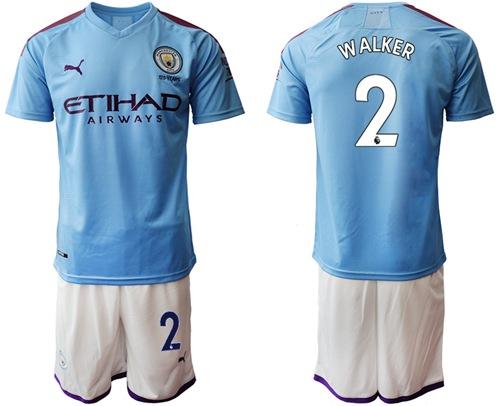 Manchester City #2 Walker Home Soccer Club Jersey adidas soccer jerseys ebay uk campers
